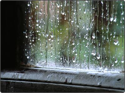 Dalla finestra vedo piovere